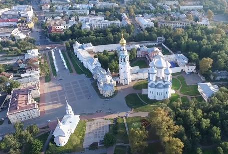 Вологодский кремль фото с высоты птичьего полета